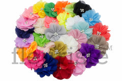"2.75"" Chiffon Flower - Pick Your Color - Anna Collection"