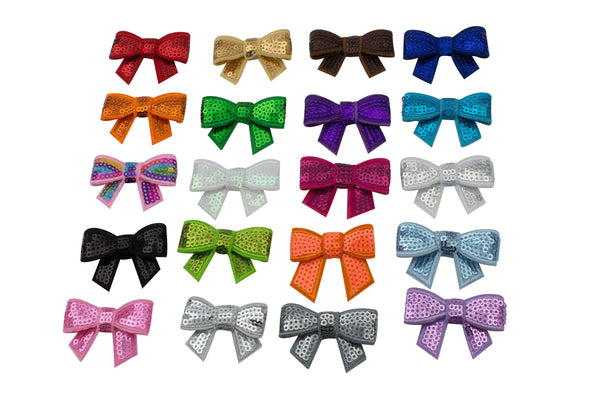 Mini Sequined Bows - Pick Your Color