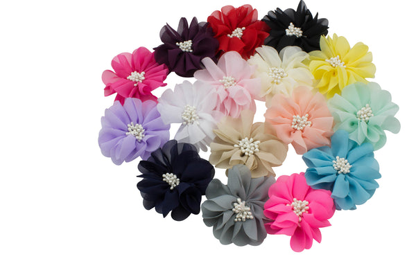 "Chiffon Flower 2.75"" - Pick Your Color"