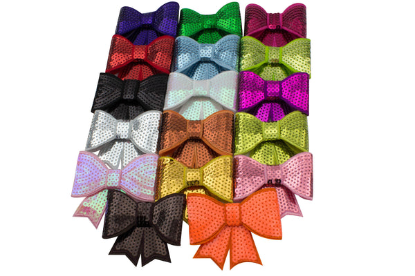 "3"" Sequin Glitter Bow - Pick Your Color"