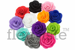 "2"" Felt Fabric Flower - Pick Your Color"