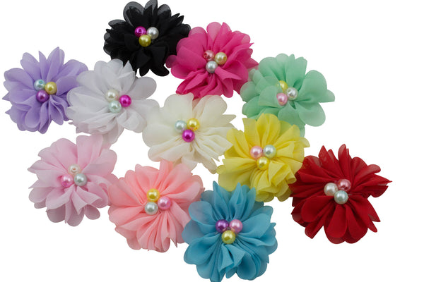 "2.2"" Chiffon Flower - Pick Your Color"
