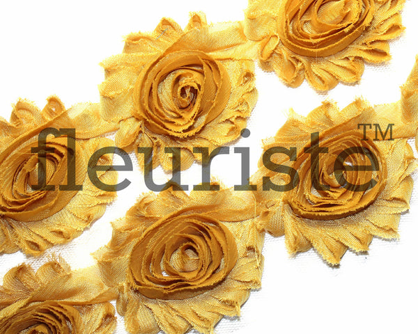 Solid Shabby Rose Trim-Mustard