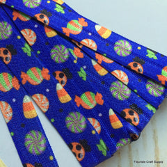 "Halloween Fold Over Elastic-5/8"" Width-Halloween Candies"