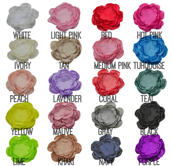 "3.5"" Chiffon Rose Flower - Pick Your Color"