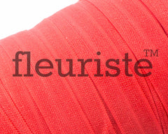 "Solid 5/8"" Foldover Elastic by the Yard-poppy red"