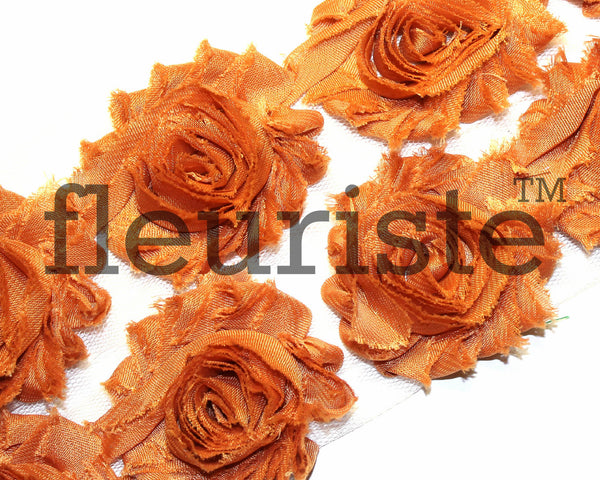 Solid Shabby Rose Trim-Saddle Brown
