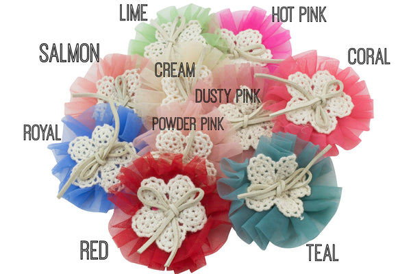 "2.75"" Tulle Flower - Pick Your Color"