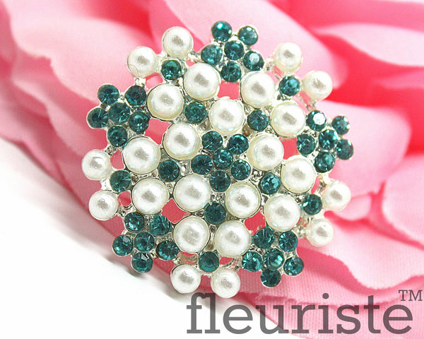 Rhinestones Buttons 24 mm flat back