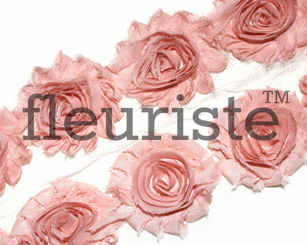 Solid Shabby Rose Trim-Vintage Peach