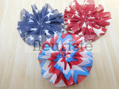 "4th of July Ballerina Flower - 2.5"" Patriotic Flower"