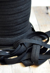 "Solid 5/8"" Foldover Elastic by the Yard-Black"