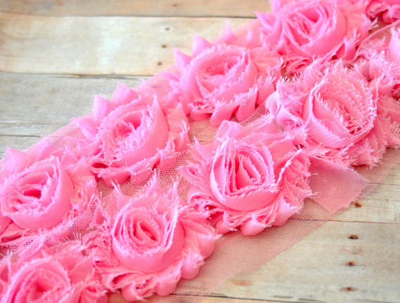 Solid Shabby Rose Trim-Baby Pink