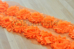 Solid Shabby Rose Trim-Bright Orange