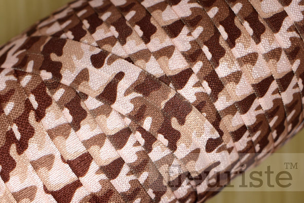 "Printed Fold Over Elastic-5/8"" Width Camouflage Brown Camo Military"