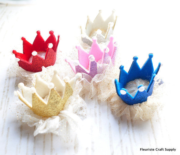 Crowns with Pearl Clips- Choose Your Color