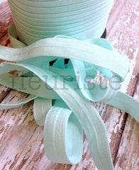 "Solid 5/8"" Foldover Elastic by the Yard-Daiquiri Ice"