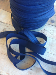 "Solid 5/8"" Foldover Elastic by the Yard-Dark Navy"
