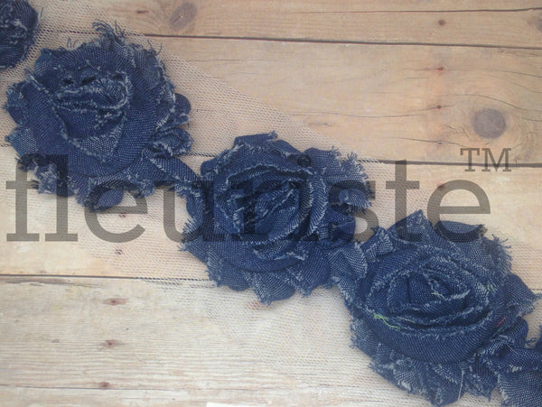 Shabby Trim by the Yard- Denim