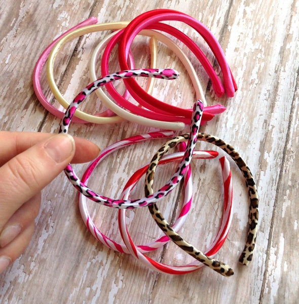 Satin Doll Headband Neon Bubblegum