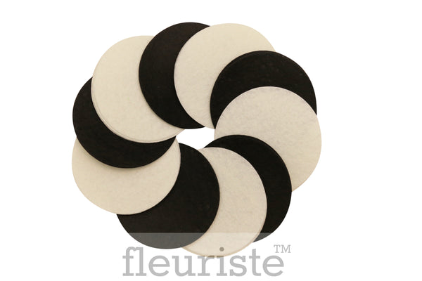 "2.75"" Felt Circles-Black or White"