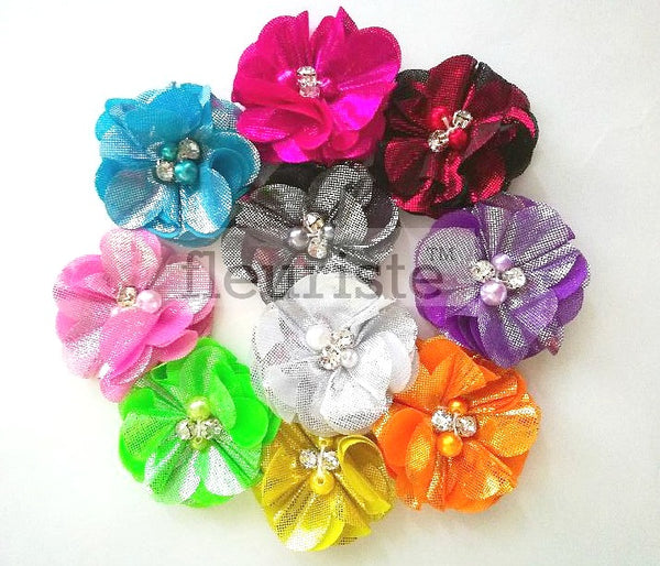 "2"" Small Chiffon Flower - Pick Your Color"