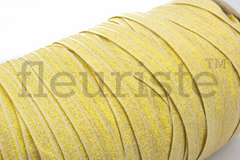Foldover Elastic by the Yard- Shiny Gold Elastic