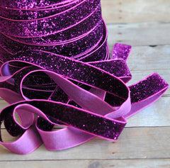 Regular Glitter Elastics by the Yard-Grape