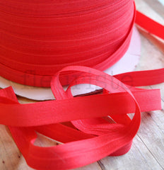 "Solid 5/8"" Foldover Elastic by the Yard-  Red"