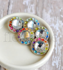 21mm Round Rainbow Button