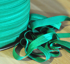 "Solid 5/8"" Foldover Elastic by the Yard-Kelly"
