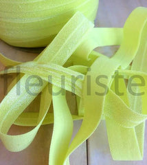 "Solid 5/8"" Foldover Elastic by the Yard-Lemonade"