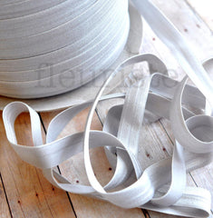 "Solid 5/8"" Foldover Elastic by the Yard-Light Gray"