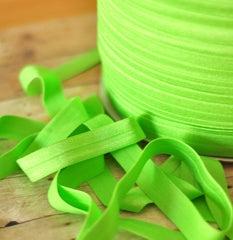 "Solid 5/8"" Foldover Elastic by the Yard-Lime"