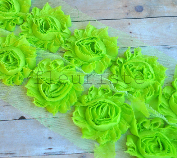 Solid Shabby Rose Trim-Lime