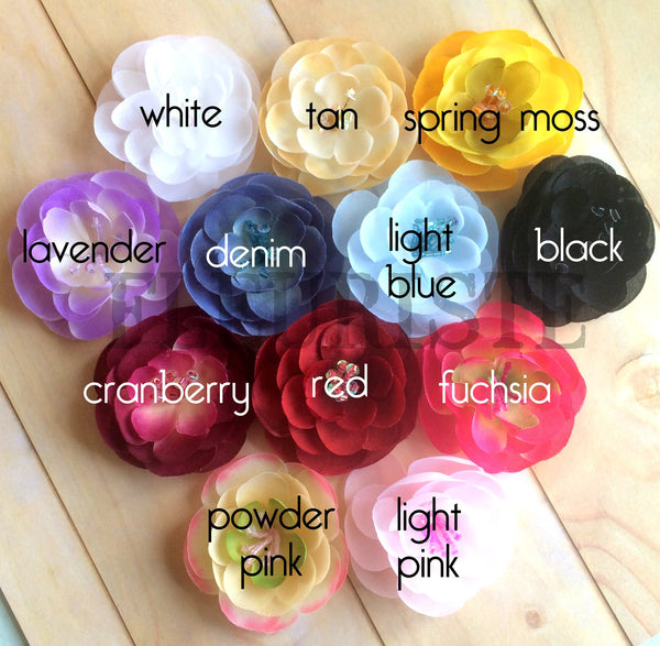 Medium Silky Beaded Flower-Pick Your Color