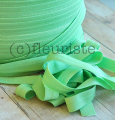 "Solid 5/8"" Foldover Elastic by the Yard-Mint"