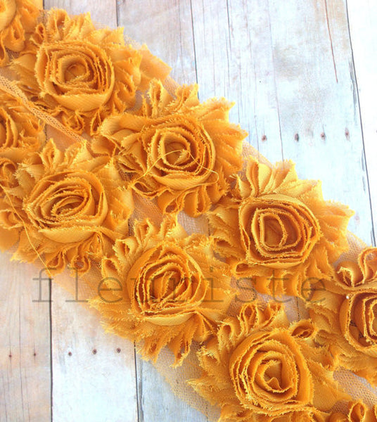 Solid Shabby Rose Trim-Caramel