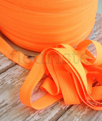 "Neon 5/8"" Foldover Elastic by the Yard-Neon Orange"