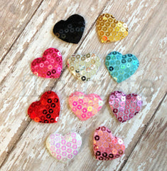 Padded Heart Appliques - Pick Your Color