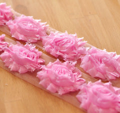 Solid Shabby Rose Trim-Powder Pink