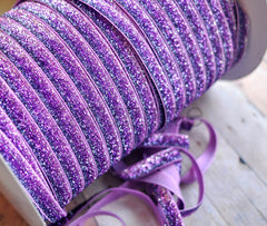 Ombre Glitter Elastic by the Yard-Orchid Ombre