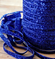 Regular Glitter Elastics by the Yard-Royal Blue