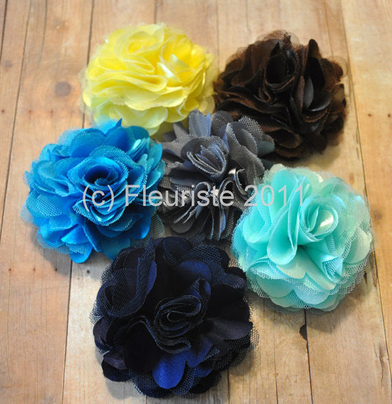 Silk and Organza Fluff Flower-Pick Your Color
