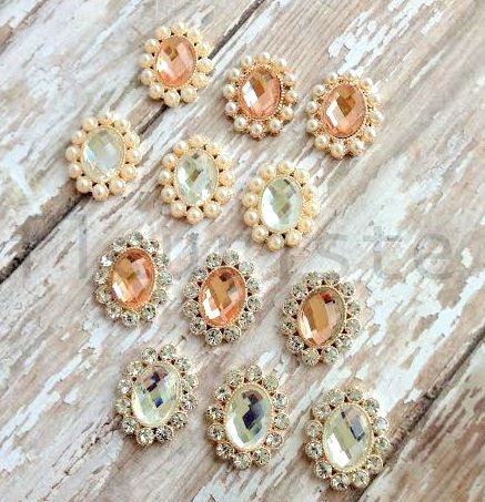 Mini Jeweled Buttons-Pick Your Color