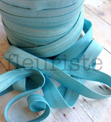 "Solid 5/8"" Foldover Elastic by the Yard-Stormy Ocean"