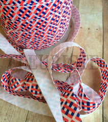 "Fourth of July/Summer Patterned Fold Over Elastic-5/8"" Width-Triple Chevron"