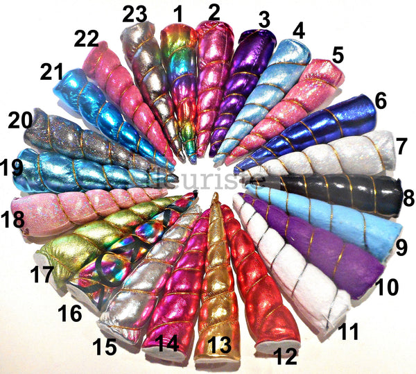 "5"" Unicorn Horns - 23 colors"
