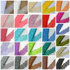 "NEW 2"" Lace Elastic by the Yard-Pick Your Color"
