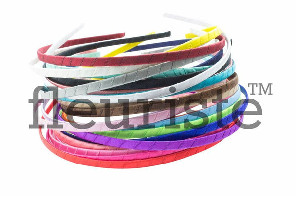 Satin Wrapped Headband Metal 5 mm- Choose Your Color